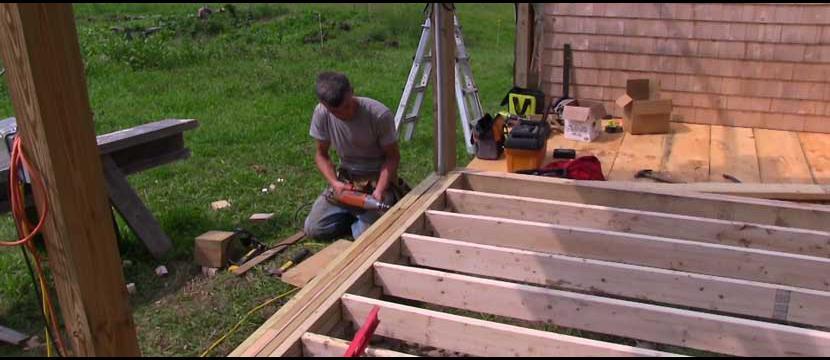 Ben Working on Mini Barn