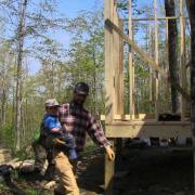 Son helps Dad